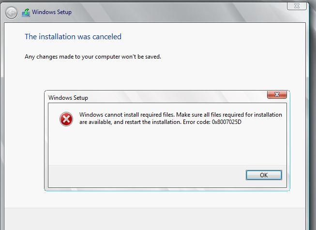 How to Fix Windows Error Code 0x8007025D?