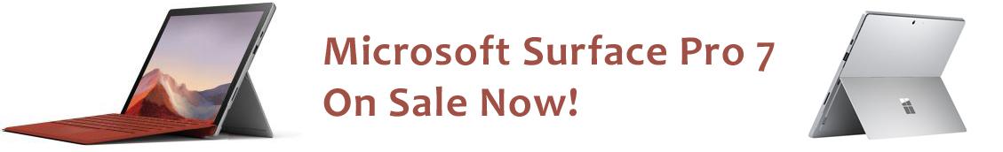 Microsoft Surface Pro 7 On Sale now at PCShopDigital.com