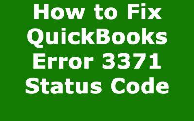 How to Fix QuickBooks Error 3371 Status Code 11118?